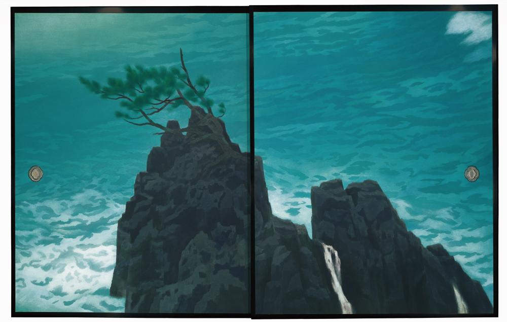唐招提寺御影堂障壁画のうち、《濤声》(部分)1975年、東山魁夷、唐招提寺蔵