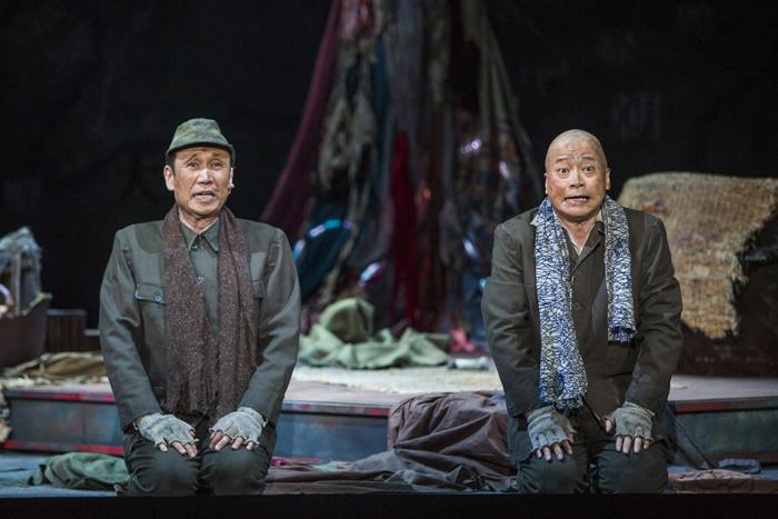 左から 大森博史 ラサール石井(撮影:谷古宇正彦)
