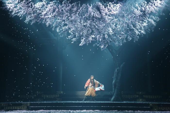桜の木の下のマクベス 市村正親(撮影:清田正剛)
