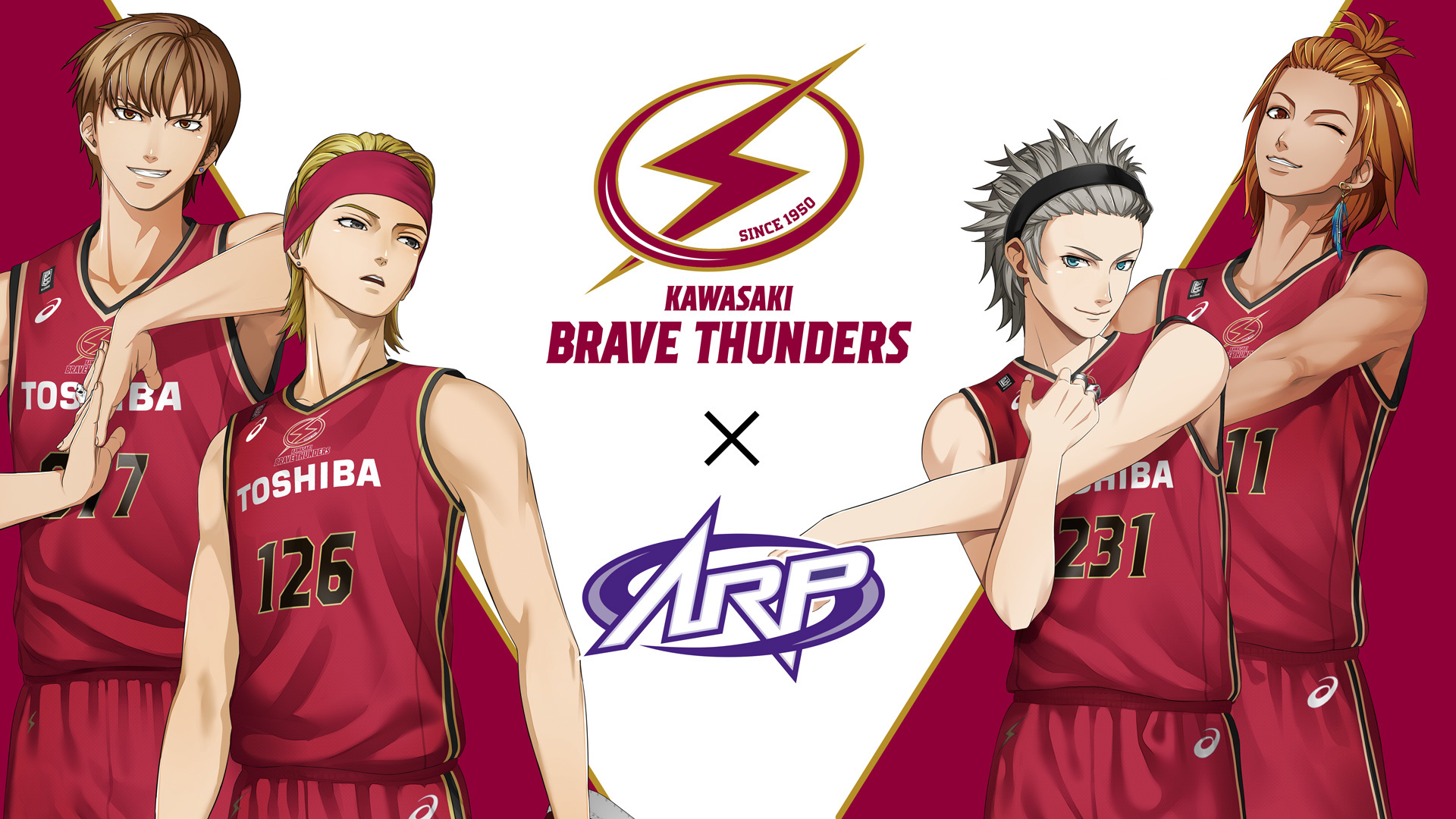 川崎ブレイブサンダースのユニフォームを着たARダンス&ボーカルグループ『ARP』