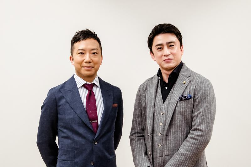 令和三年歌舞伎座『壽 初春大歌舞伎』取材会 左から市川猿之助、松本幸四郎