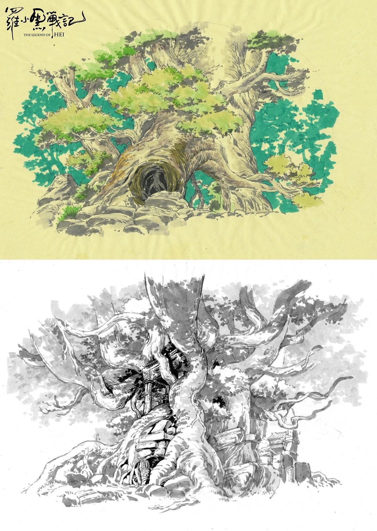 設定画〈森林〉 (C) Beijing HMCH Anime Co.,Ltd