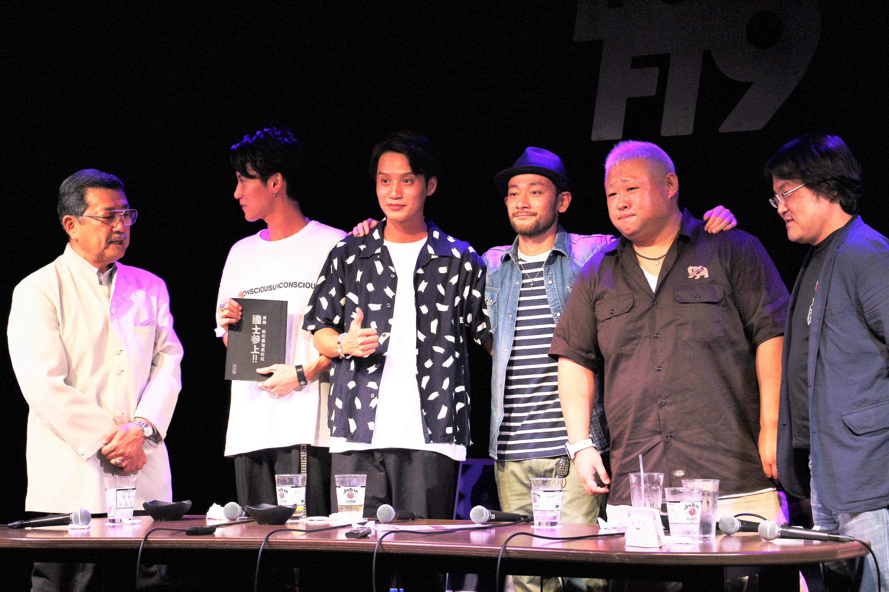 左から、高瀬将嗣監督、高木万平、高木心平、山根和馬、脇知弘、久田将義氏