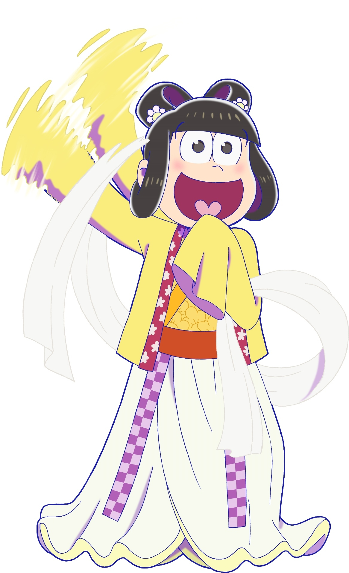 十四松×佐用姫 ©赤塚不二夫/おそ松さん製作委員会