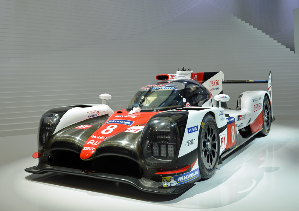 TOYOTAはWEC(世界耐久選手権)モデルも展示