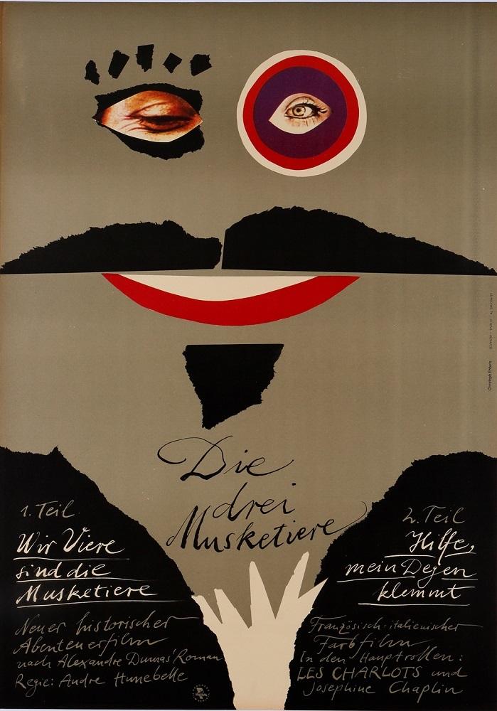 『三銃士』(1974 年/フランス/アンドレ・ユヌベル監督) ポスター:クリストフ・エーベッツ(1977 年) サントリーポスターコレクション(大阪新美術館建設準備室寄託)