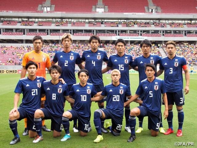 U-22ブラジル代表戦に臨むU-22サッカー日本代表(C)JFA/PR