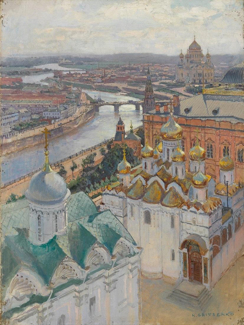 ニコライ・グリツェンコ 《イワン大帝の鐘楼からのモスクワの眺望》 1896年 油彩・キャンヴァス (C) The State Tretyakov Gallery