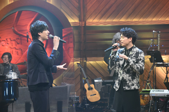 "BS-TBS「Sound Inn ""S""」 10 城田優(左)と山崎育三郎"