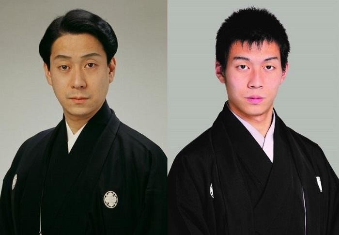 (左から)中村福助、中村児太郎