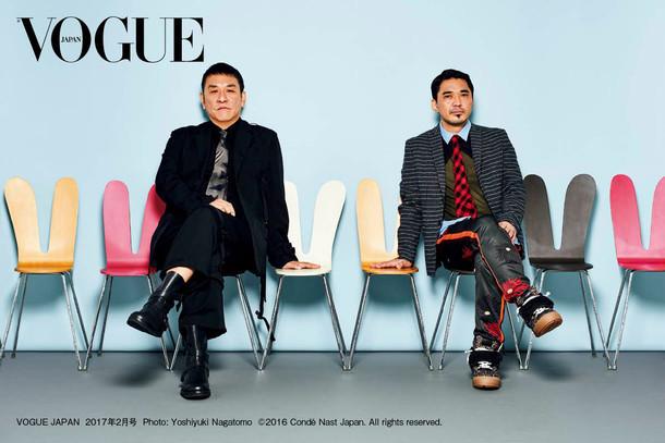 「VOGUE JAPAN」2月号の電気グルーヴ。