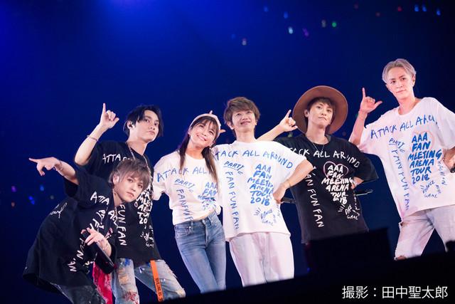 「AAA FAN MEETING ARENA TOUR 2018~FAN FUN FAN~」埼玉・さいたまスーパーアリーナ公演の様子。