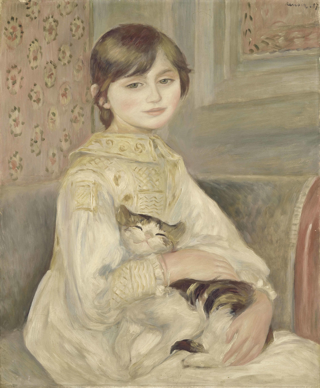 《ジュリー・マネ》あるいは《猫を抱く子ども》 1887年 油彩/カンヴァス オルセー美術館