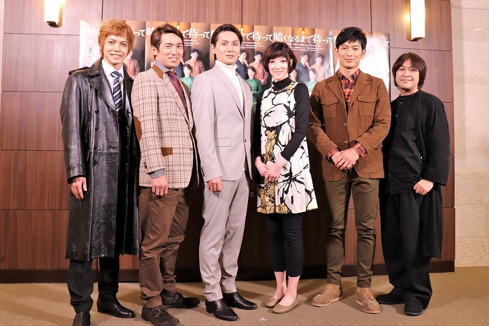 (左から)猪塚健太、高橋光臣、加藤和樹、凰稀かなめ、松田悟志、深作健太