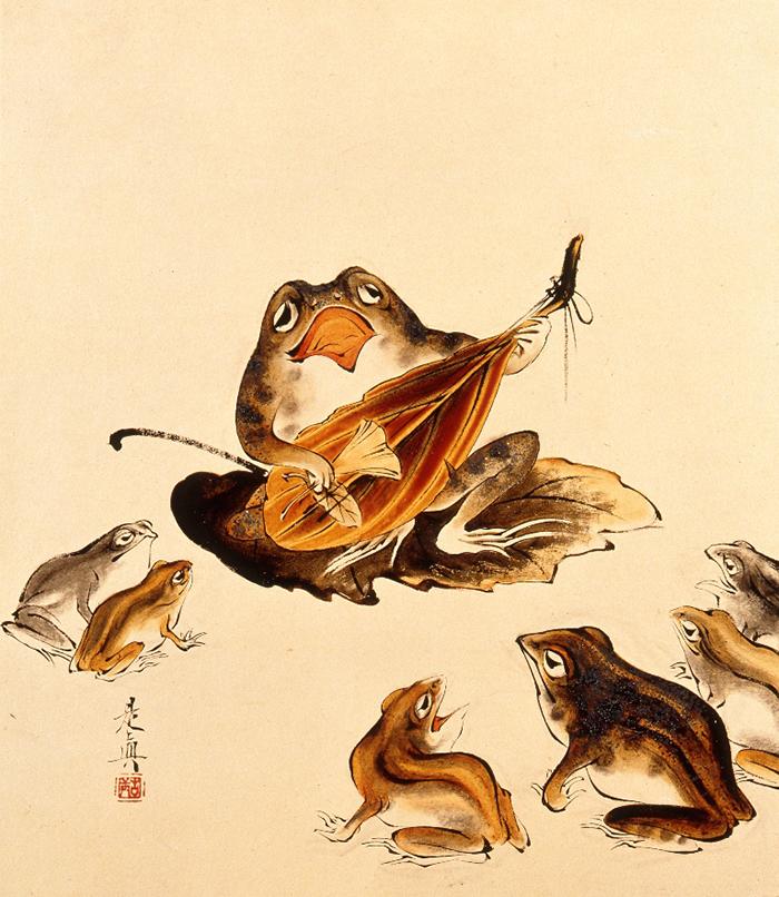 柴田是真《墨林筆哥》 1877-88(明治10-21)年 紙本・漆絵 山種美術館
