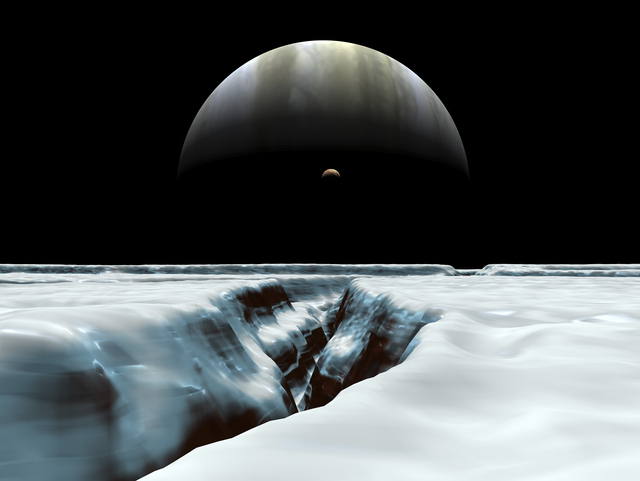 「エウロパ」の地表(イメージ)   ⓒWalter Myers/Stocktrek Images /amanaimages