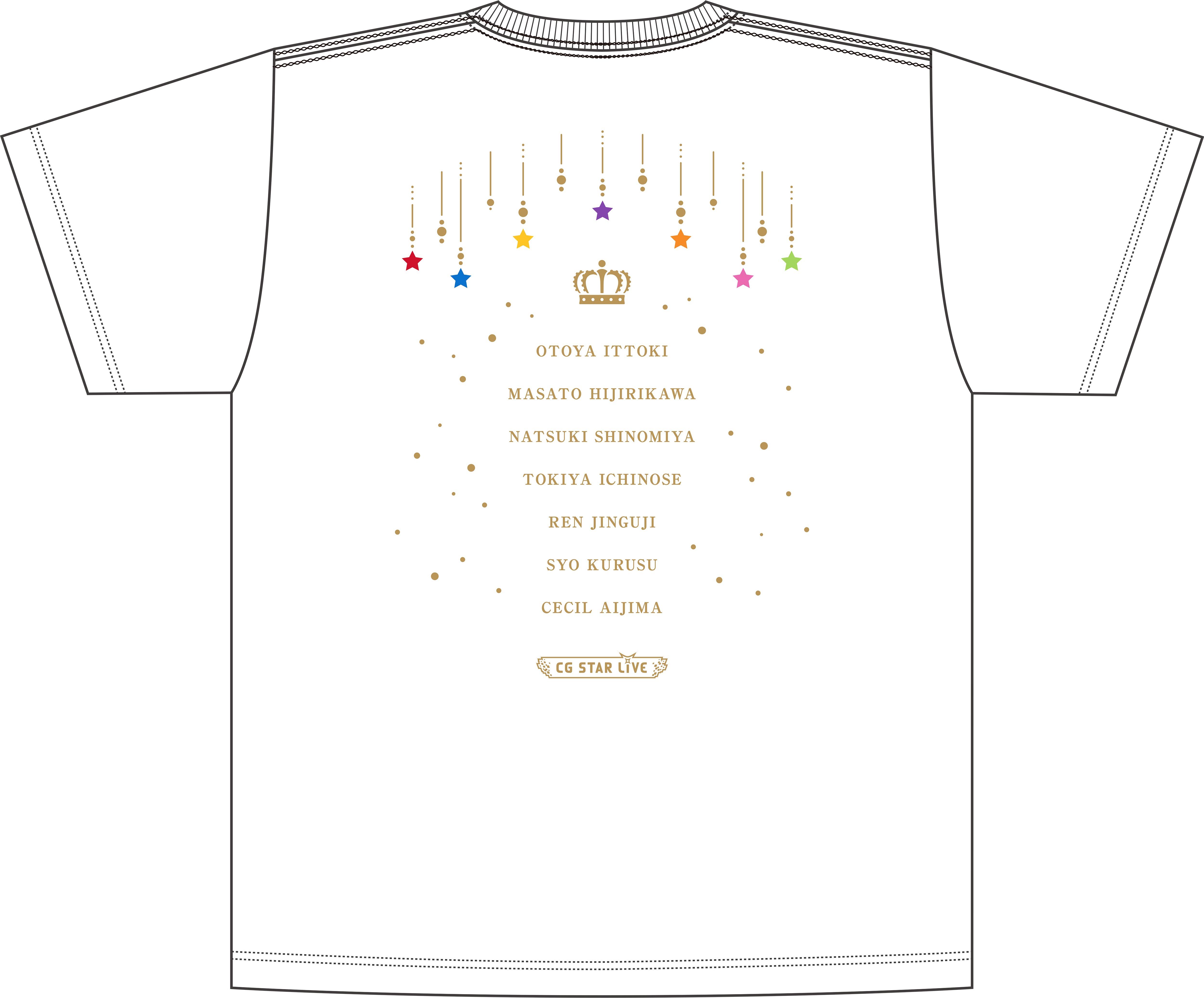 うたの☆プリンスさまっ♪ ST☆RISH SECRET PARTY! Tシャツ サイズS・M・L