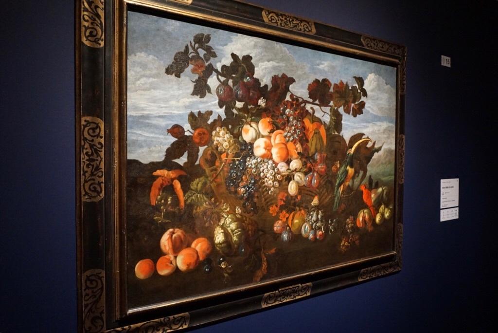 《果物の静物がある風景》アブラハム・ブリューゲル  1670年