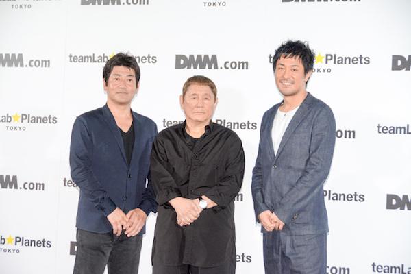 (左から)野本巧、北野武、猪子寿之