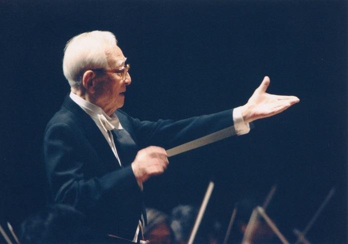 今年、生誕110周年を迎える大阪フィルの創立名誉指揮者 朝比奈隆 (C)飯島隆