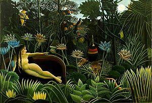 『夢』 アンリ・ルソー作 1910年 ニュー・ヨーク近代美術館 出典=ウィキメディア・コモンズ (Wikimedia Commons)