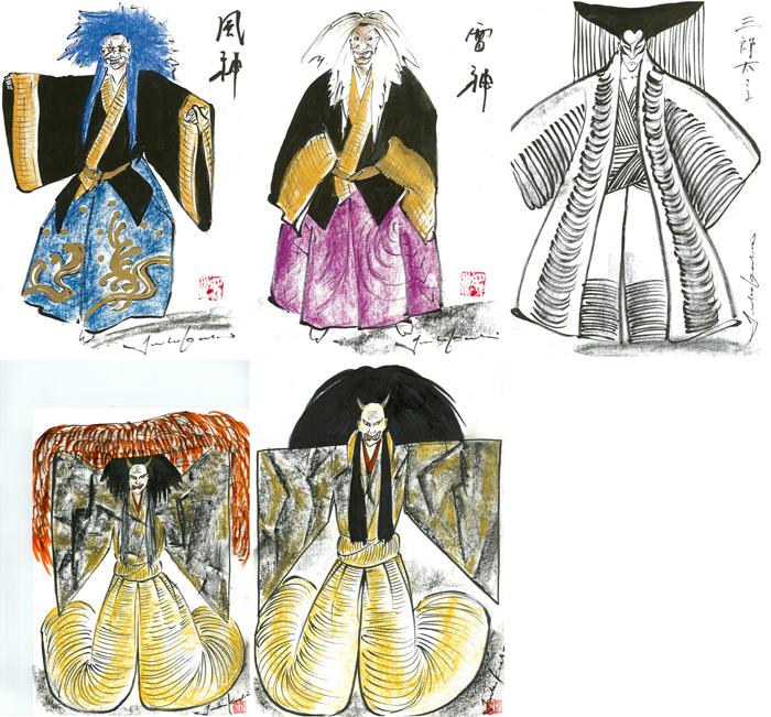 コシノジュンコによるデザイン画