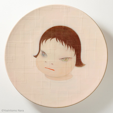 奈良美智『Shallow Puddles 2004』2004年※title revised in 2015, Acrylic on cotton, mounted on FRP, 95(diameter)×15cm  ©Yoshitomo Nara, Courtesy of the artist and Blum & Poe, Los Angeles/New York/Tokyo