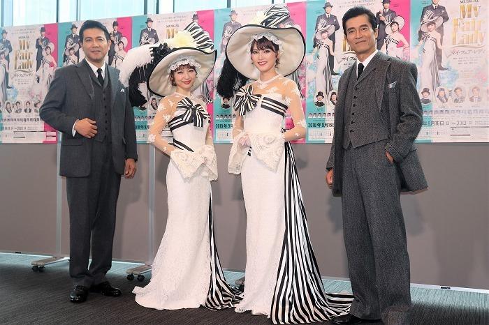 (左から)別所哲也、神田沙也加、朝夏まなと、寺脇康文