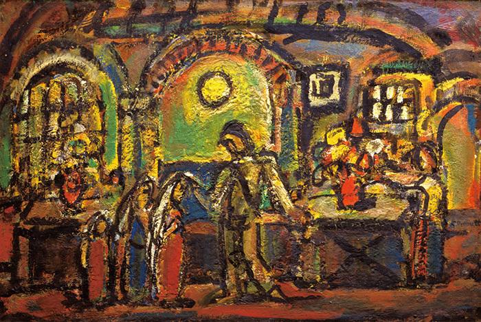 《キリストとの親しき集い》1952年油彩 個人蔵(ルオー財団協力)