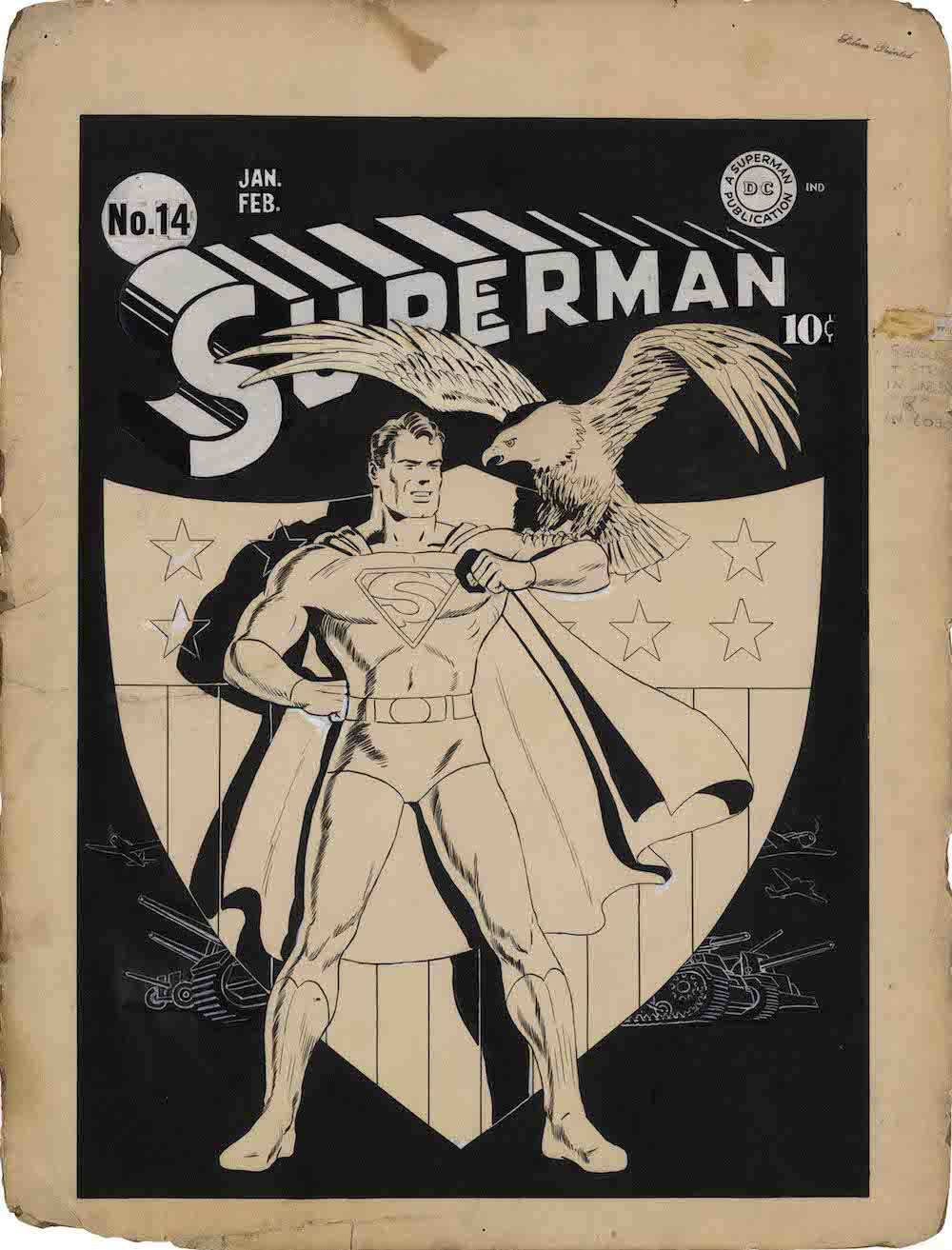 Superman#14 Couverture FRED-RAY 1942 DETECTIVE COMICS and all related characters and elements (C)&TM DC (s21)