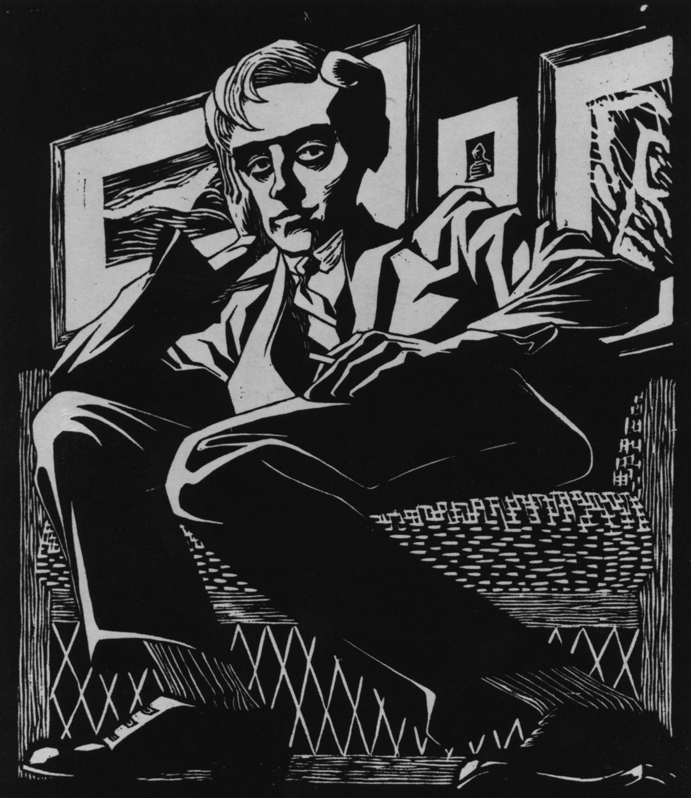 《椅子に座っている自画像 Self-Portrait in a Chair.1920》