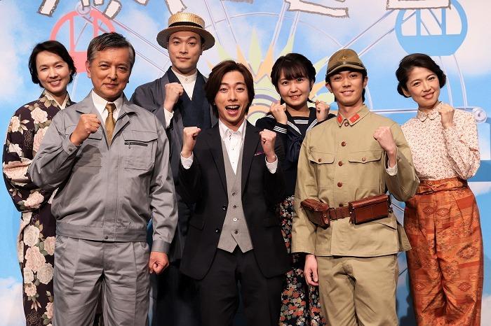 (左から)いしのようこ、榎木孝明、渋谷天笑、河合郁人、惣田紗莉渚、辰巳雄大、純名里沙