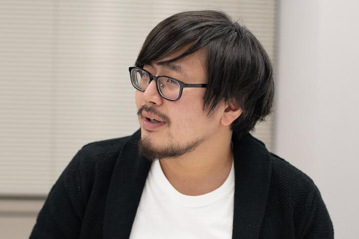劇団「地蔵中毒」主宰・作・演出の大谷皿屋敷 (撮影:塚田史香)