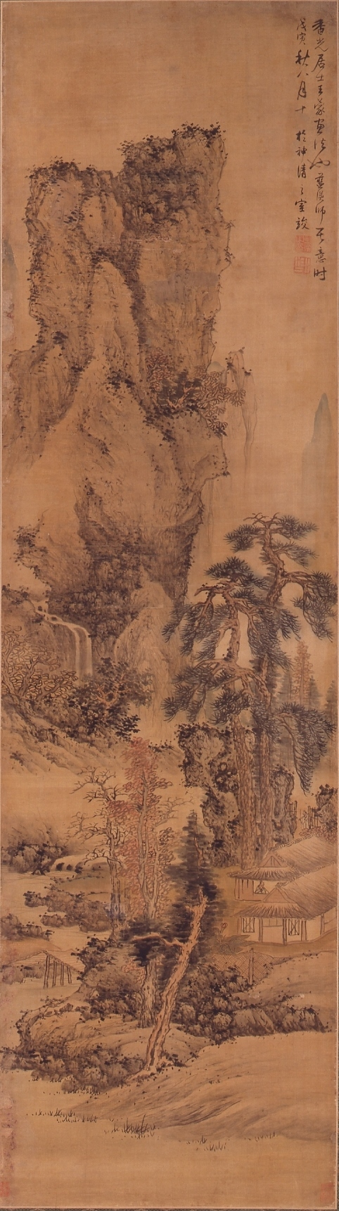 重要文化財 「秋景山水図」 藍瑛 明時代・崇禎11年(1638) 静嘉堂文庫美術館蔵 【全期間展示】