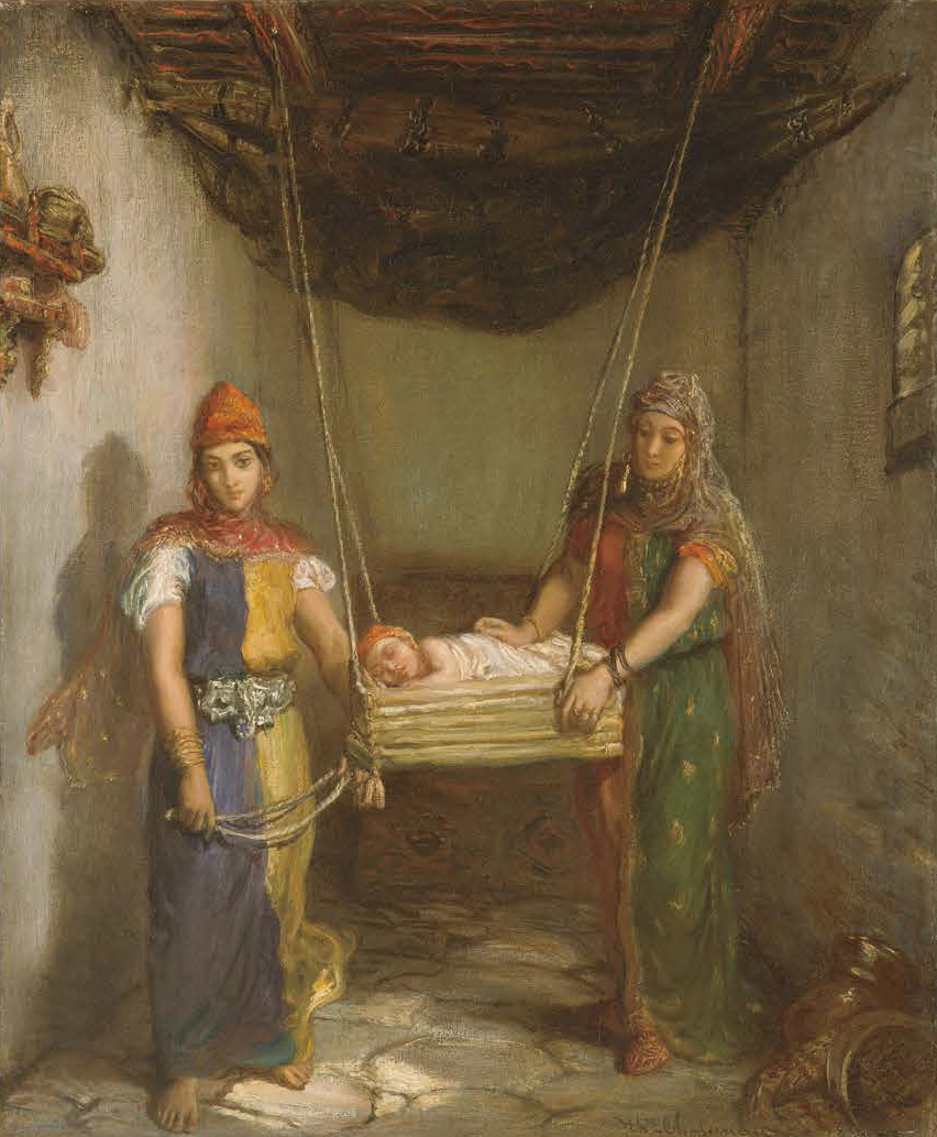《コンスタンティーヌのユダヤ人街の情景》 テオドール・シャセリオー 1851年 メトロポリタン美術館
