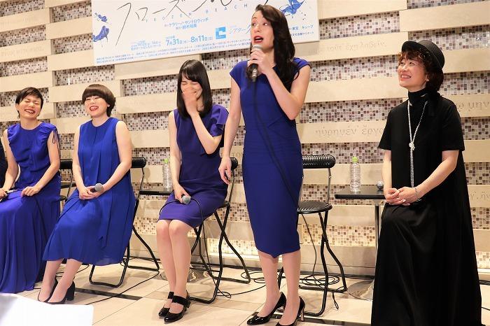 (左から)鈴木杏、ブルゾンちえみ、朝倉あき、シルビア・グラブ、鈴木裕美