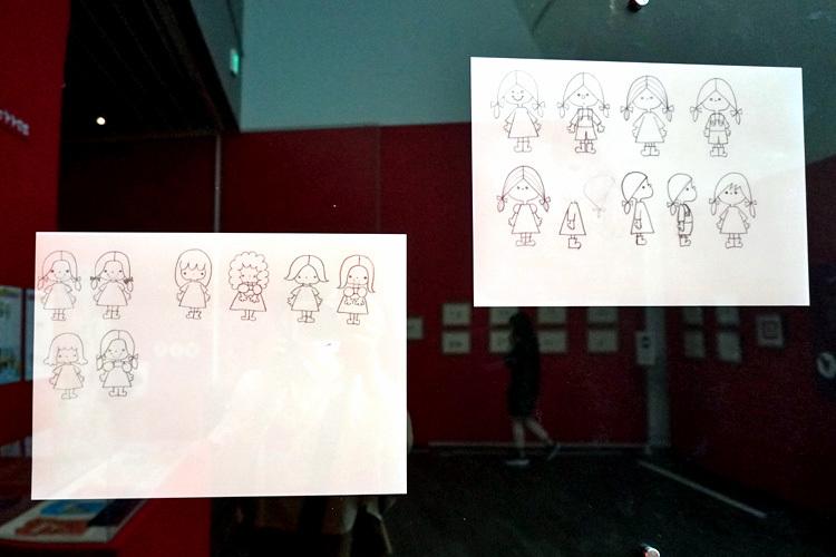 オリジナルキャラクター開発中の資料。この子供たちのイラストが、パティ&ジミーの誕生につながっていく。  (C) 2021 SANRIO CO., LTD. APPROVAL NO. SP610376