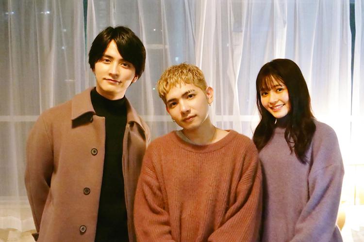 (左)瀬戸利樹 (中央)Rude-α (右)久間田琳加