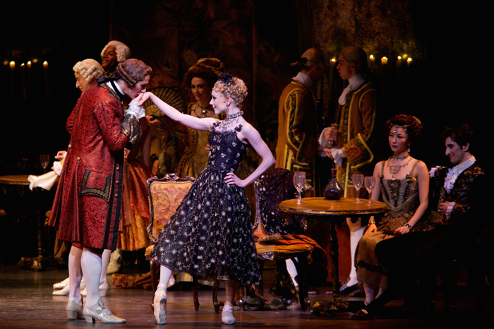Gary Avis as Monsieur GM and Sarah Lamb as Manon in Manon  ©ROH  Photographed by Alice Pennefather