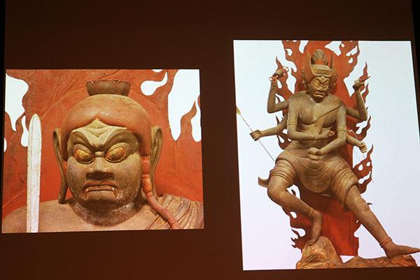 重要文化財「五大明王像」のうち、左が不動明王、右が金剛夜叉明王。いずれも醍醐寺蔵