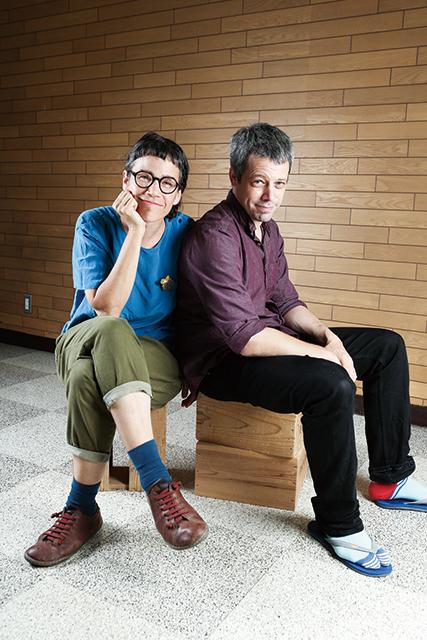 左:インバル・ピント 右:アヴシャロム・ポラック 撮影:宮川舞子