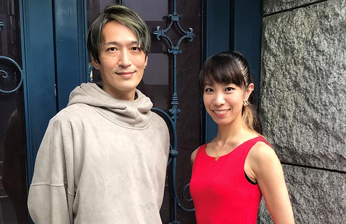 (左から)菊地研 Ken Kikuchi 日髙有梨 Yuuri Hidaka