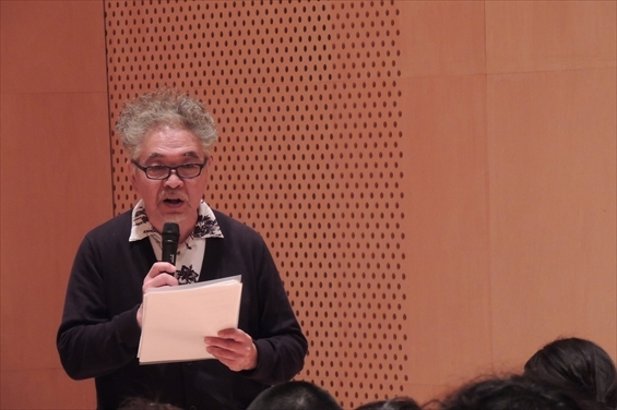 カリキュラム・ディレクター 生田萬氏 (写真提供:座・高円寺)