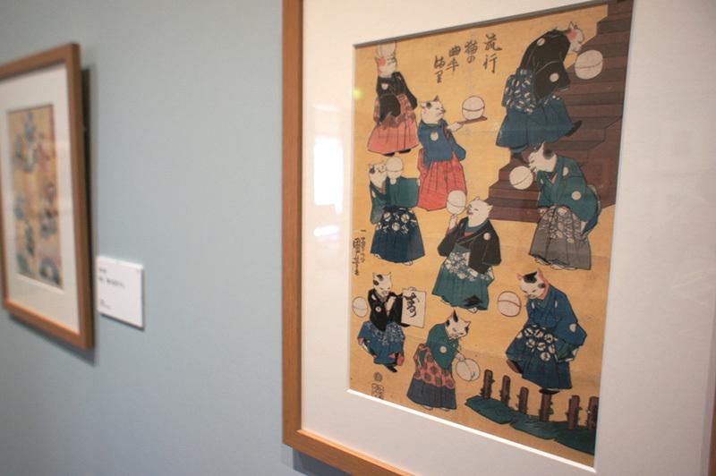 歌川国芳「流行 猫の曲手まり」