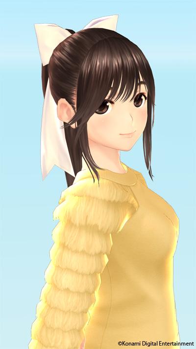 「カノジョプラス」まなか・好きな服を着たカノジョを想像して楽しんだり、なぜか写真を撮ることもできる (c)Konami Digital Entertainment