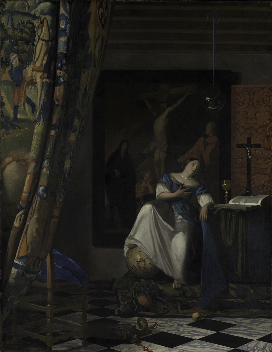 ヨハネス・フェルメール《信仰の寓意》1670-72年頃 油彩、カンヴァス 114.3x88.9cm メトロポリタン美術館