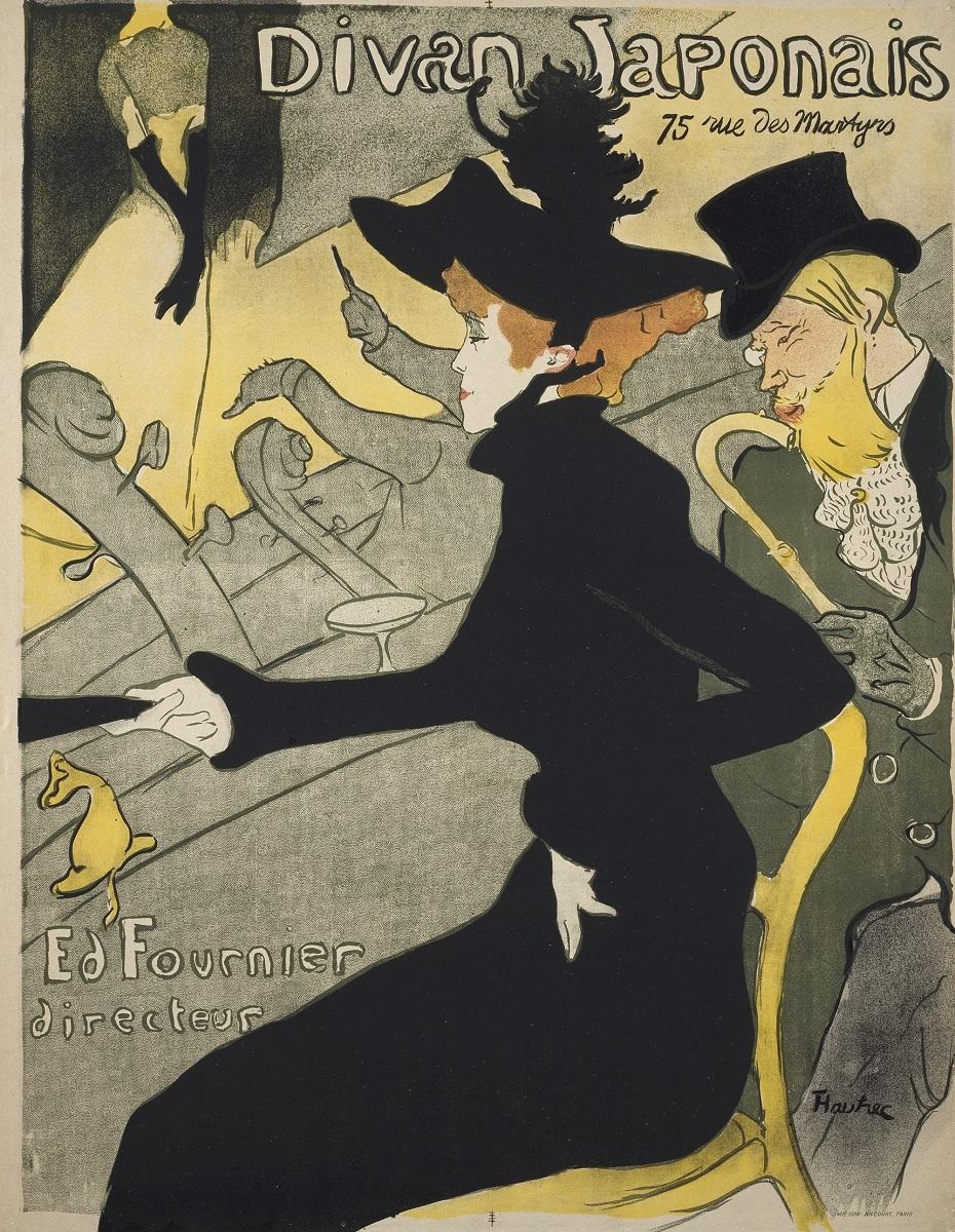 アンリ・ド・トゥールーズ=ロートレック《ディヴァン・ジャポネ》 1893年 多色刷りリトグラフ 三菱一号館美術館