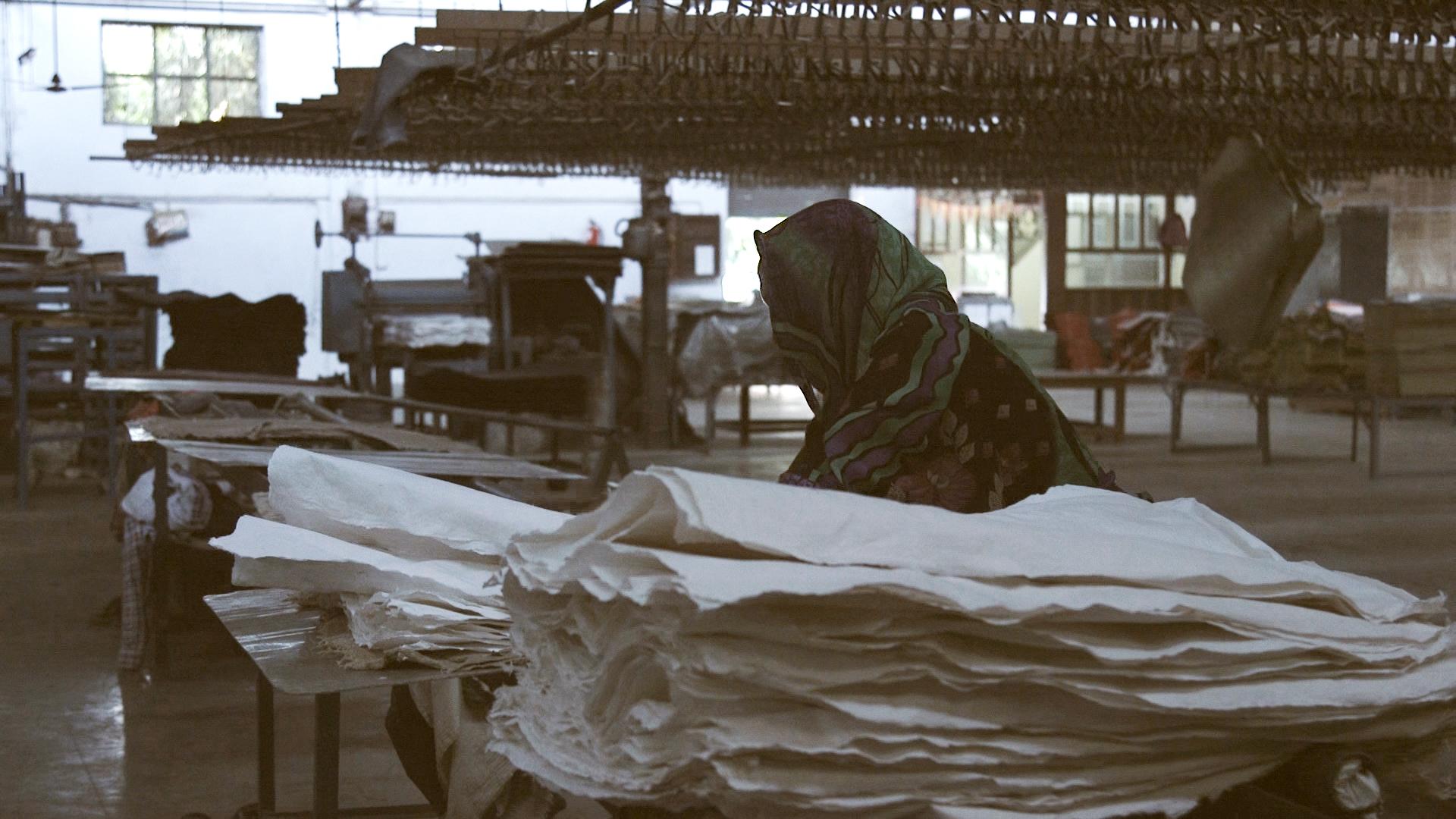 Kalam Kushコットンパルプ製紙工場(撮影:岡本憲昭)