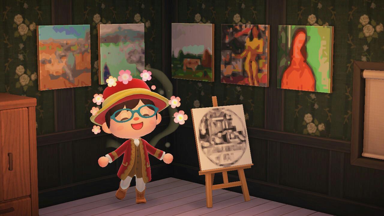 『あつまれ どうぶつの森』で大原美術館の作品を楽しむことができる (ホームページより)