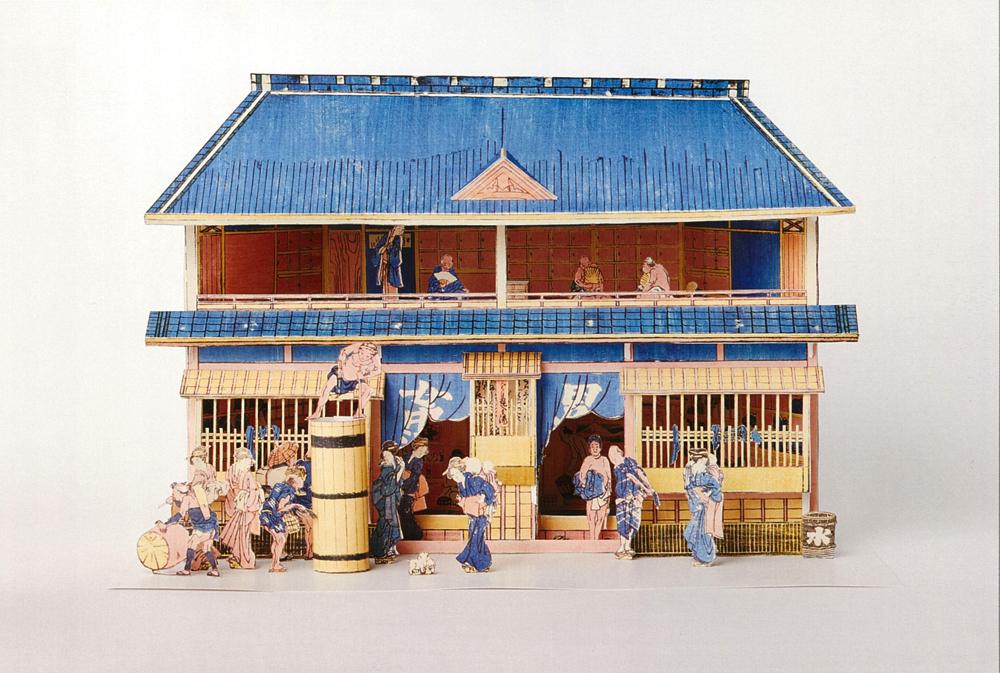 「しん板くミあけとうろふゆやしんミセのづ」お風呂屋さんのプラモデル 完成イメージ 2,160円